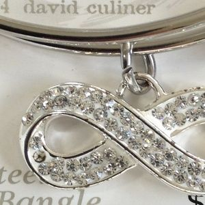 love this life Jewelry - Expandable Bangle with Rhinestone Infinity Charm